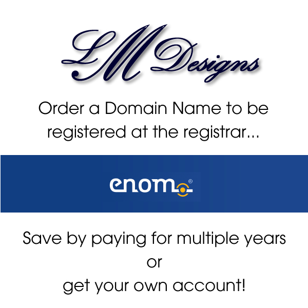 Order a domain name to be registered at eNom.